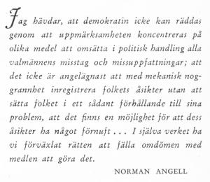 Norman Angell om åsikter